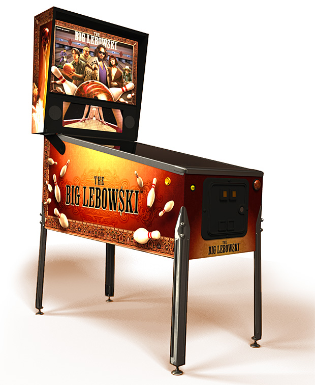 The Big Lebowski Pinball Machine at werd.com
