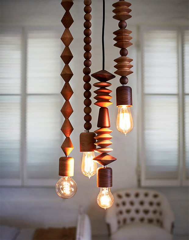 Bright Beads Wood Pendant Lamps at werd.com