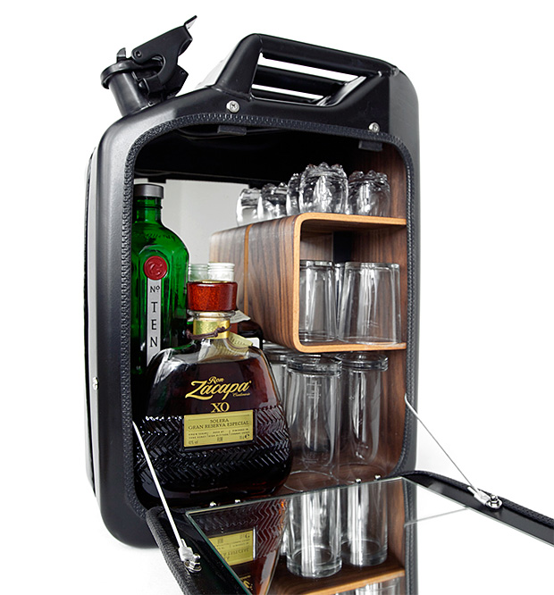 Danish Fuel Jerry Can Bar Cabinet at werd.com