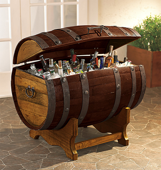 Reclaimed Tequila Barrel Ice Chest at werd.com