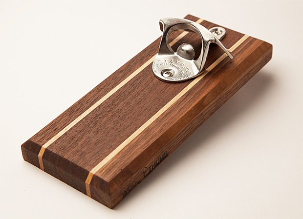 Wood Thumb Magnetic Bottle Opener at werd.com