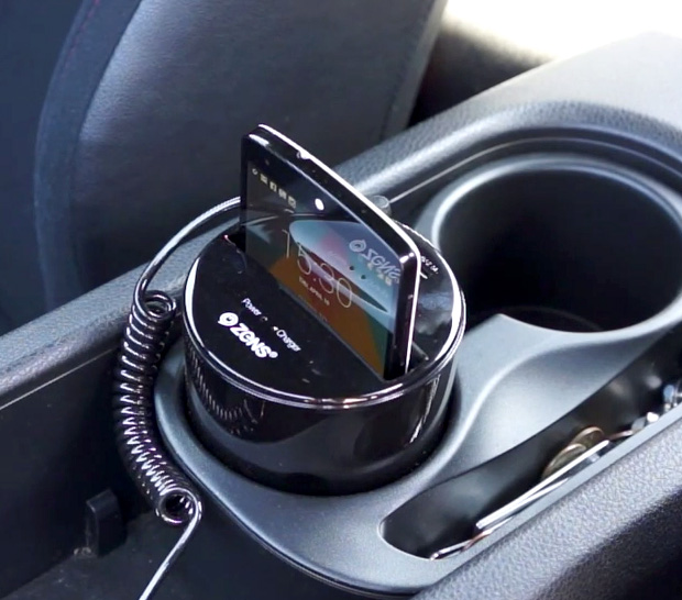 ZENS Qi Wireless Car Charger at werd.com