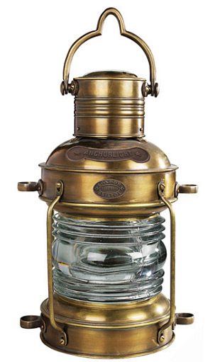Solid Brass Anchor Light at werd.com