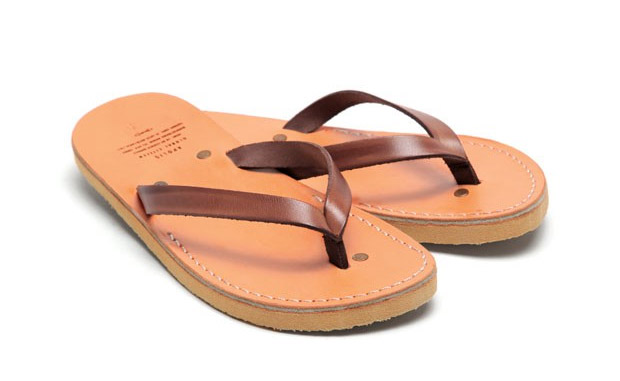 Apolis Co-op Leather Sandals at werd.com