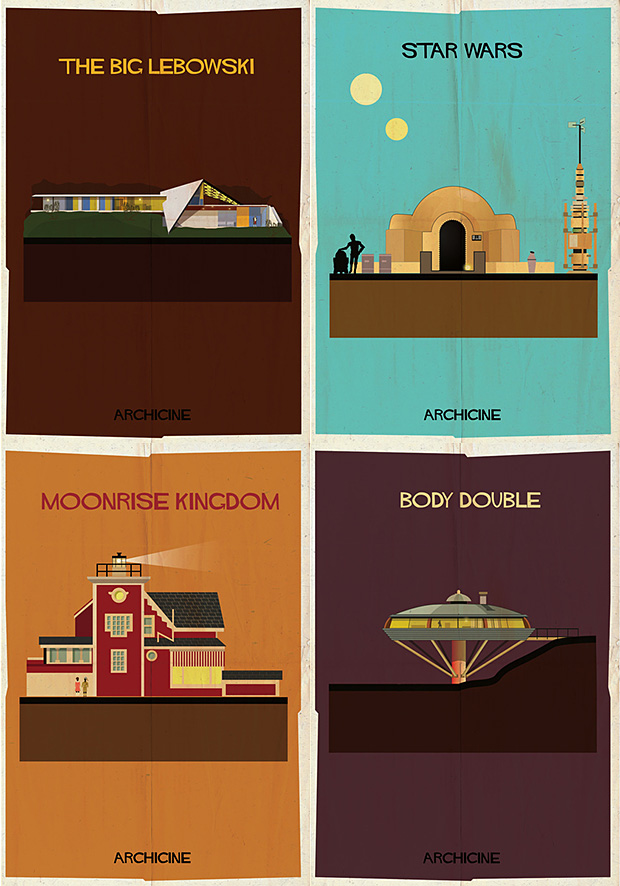 Architecture in Film Print Series at werd.com