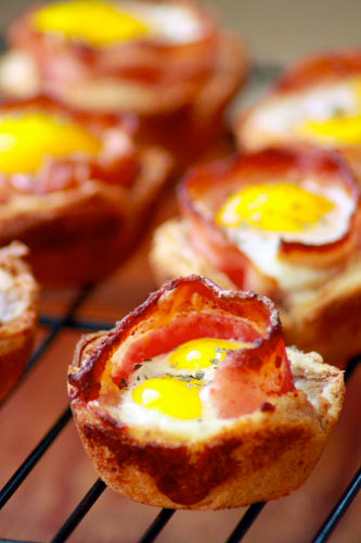 Bacon & Egg Toast Cups at werd.com
