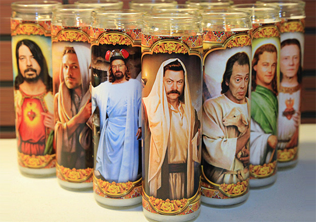 Celebrity Religious Candles at werd.com