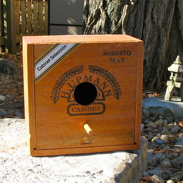 Cigar Box Bird Houses at werd.com
