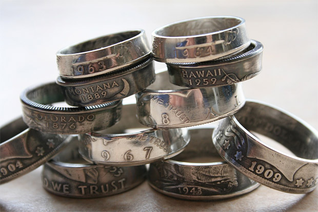Custom Coin Rings at werd.com