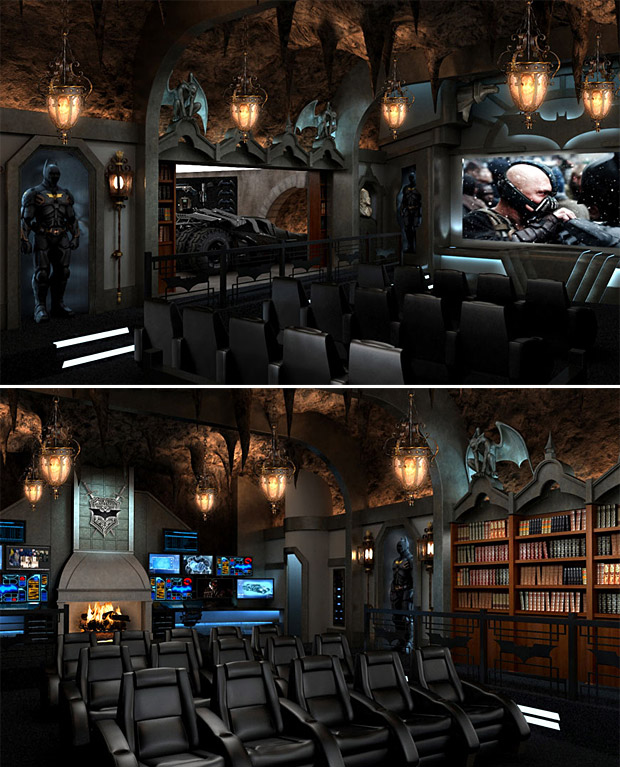 Dark Knight Themed Home Theater at werd.com