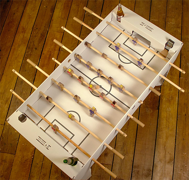 Flat Pack Cardboard Foosball Table at werd.com
