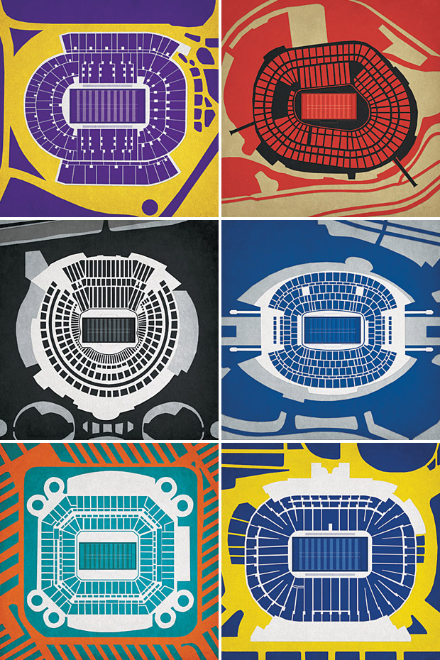 Pro & College Football Stadium Prints at werd.com