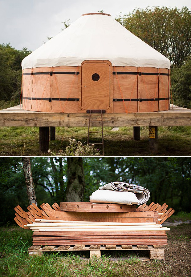 Jero Wood & Canvas Shelter at werd.com