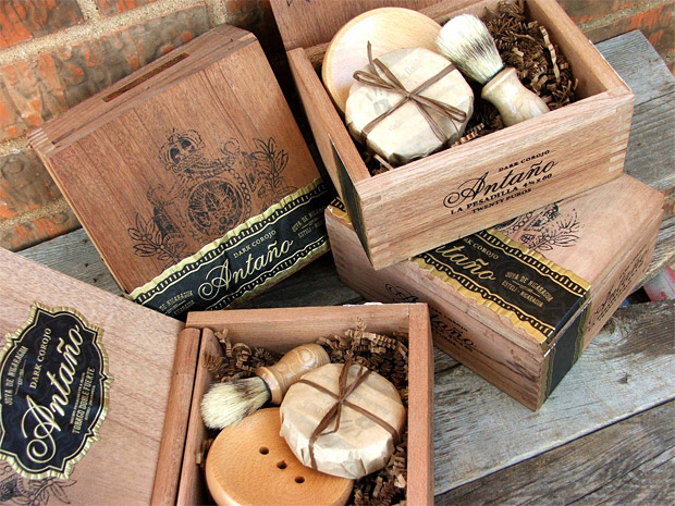 Men's Shave Set in a Cigar Box at werd.com