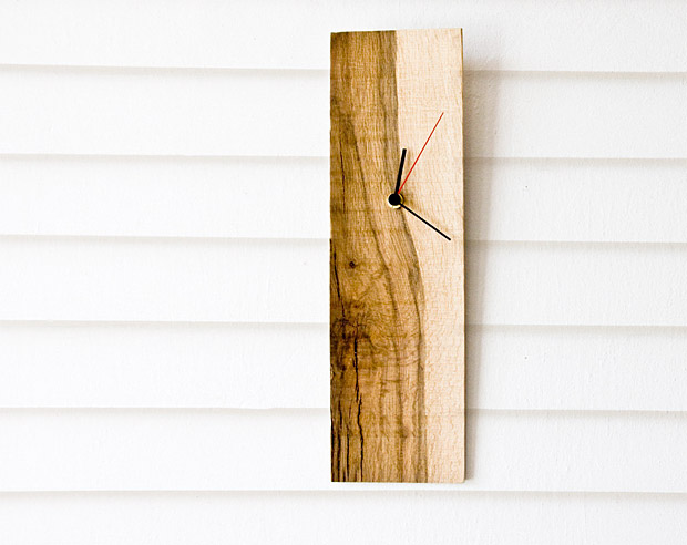 Salvaged Wood Wall Clock at werd.com