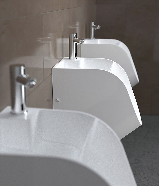 Stand Tandem Urinal at werd.com