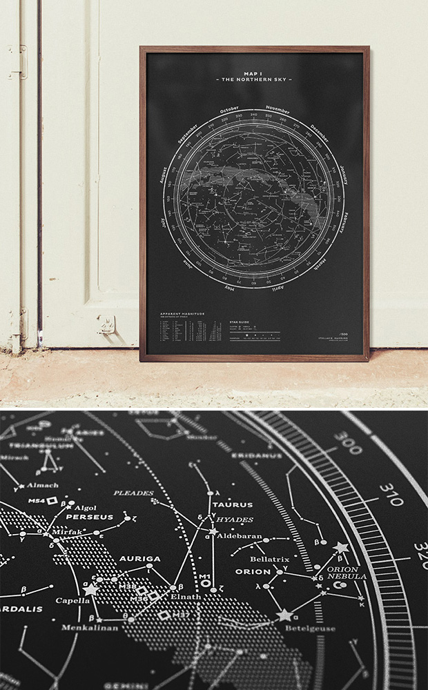Stellar Map Silkscreen Prints at werd.com