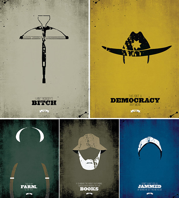 The Walking Dead Minimalist Prints at werd.com