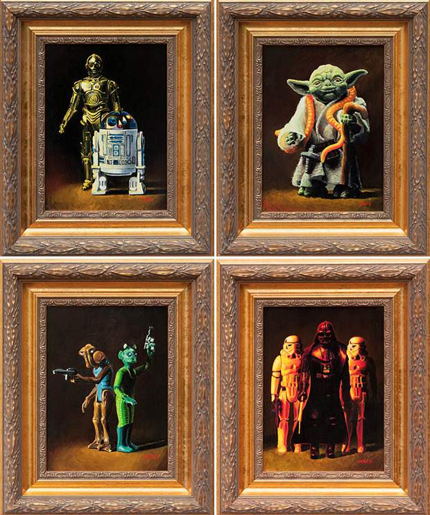 Vintage Star Wars Figure Paintings at werd.com