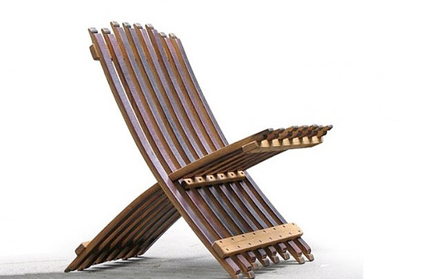 Folding Wine Barrel Chair at werd.com