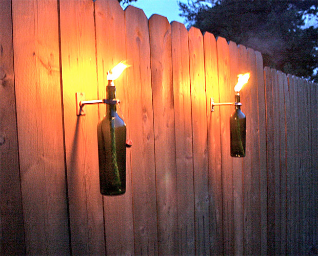 Wine Bottle Tiki Torches at werd.com